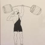 Weight Lifter illustration